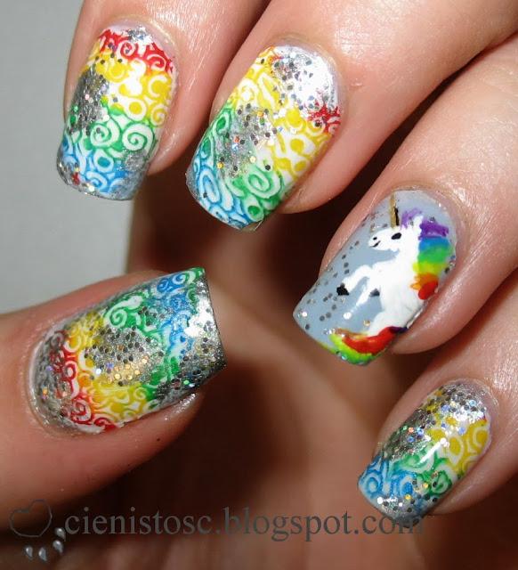 Q Riouser Q Riouser Nail Art: RedRouge Nail Art: Projekt Tęcza