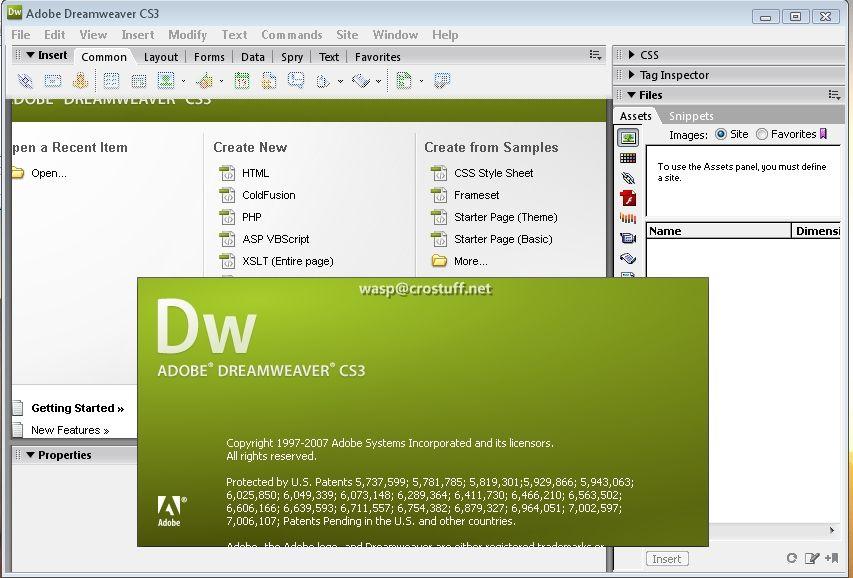 Adobe dreamweaver cs3 software