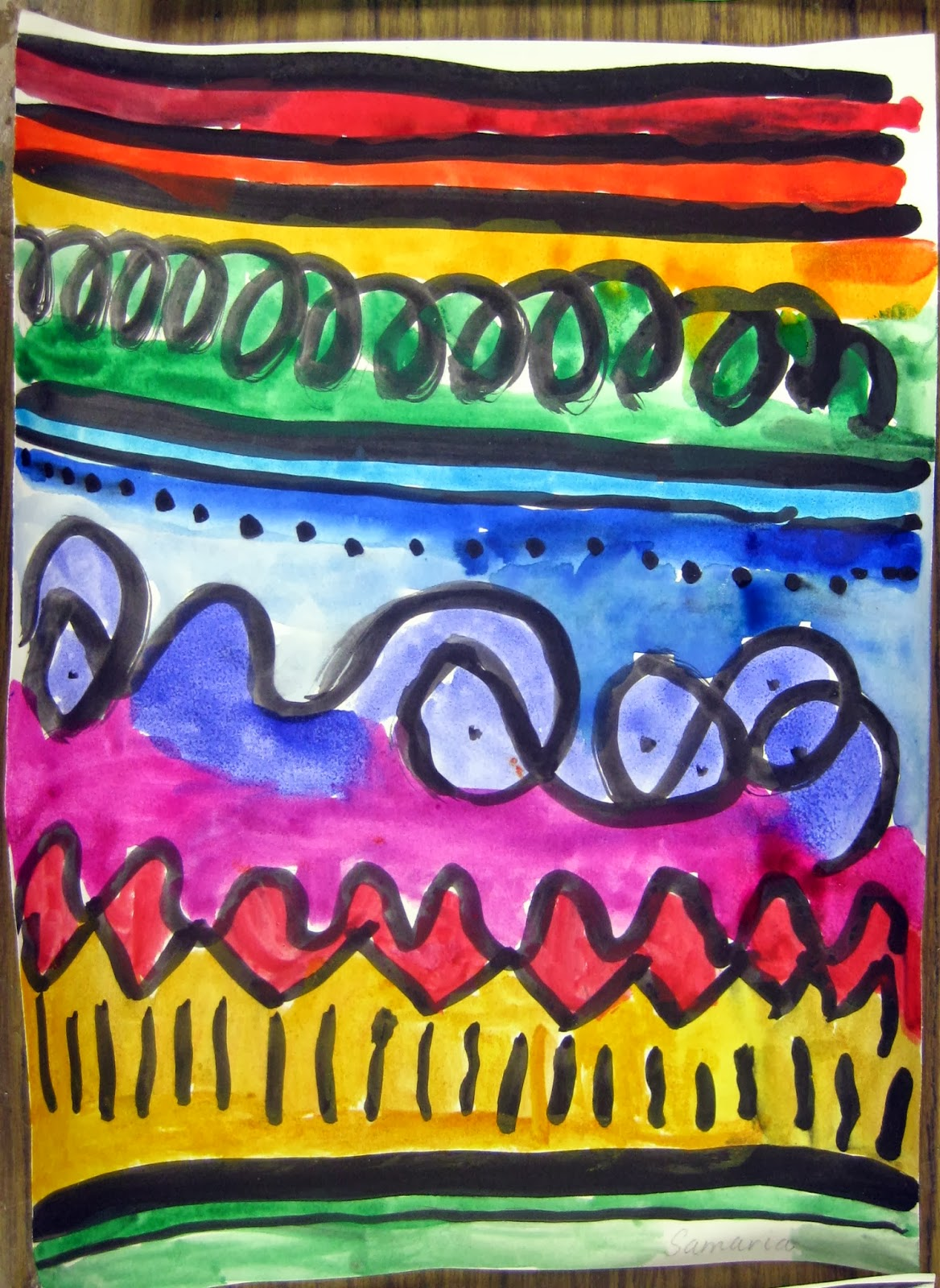 Line Art For Kindergarten : Cassie stephens in the art room a unit on line for