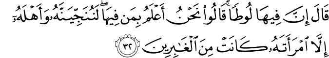 Surat Al 'Ankabut Ayat 32