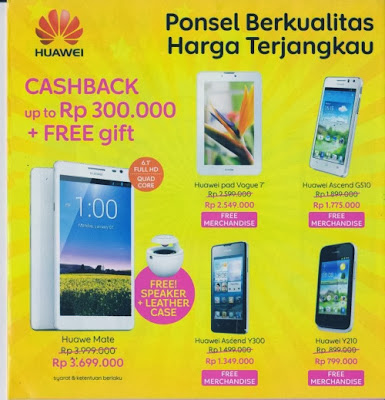 Harga Smartphone Huawei di Indocomtech 2013
