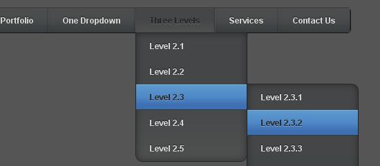 Pure CSS3 Multi Level Drop Down