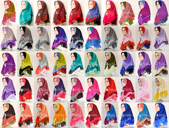Tudung Chiffon 3 Layer Plain - batch 12