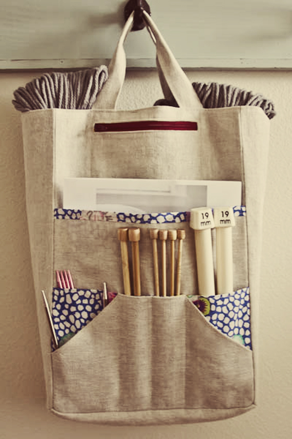 Knitting Accessories Bag : A string of purls must have knitting accessories