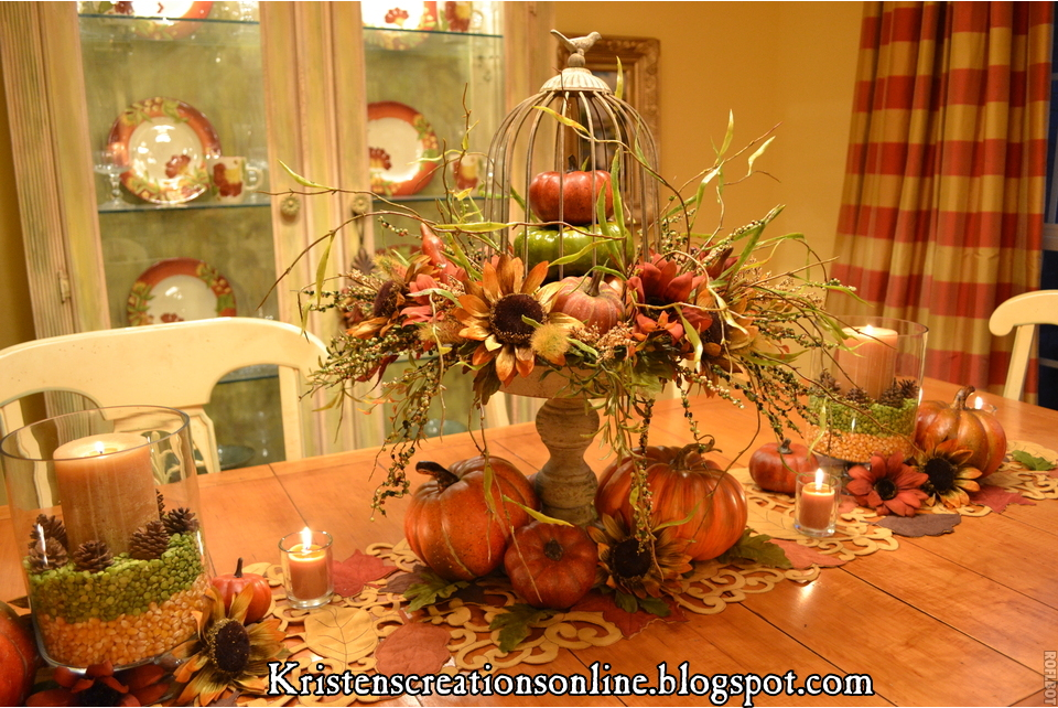 Kristen s creations the dining room table dressed for