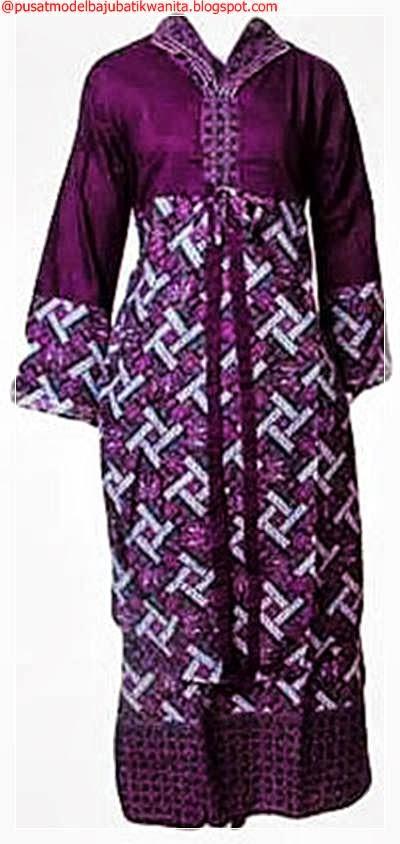 Model Baju Batik Gamis Muslimah Untuk Lebaran 2014