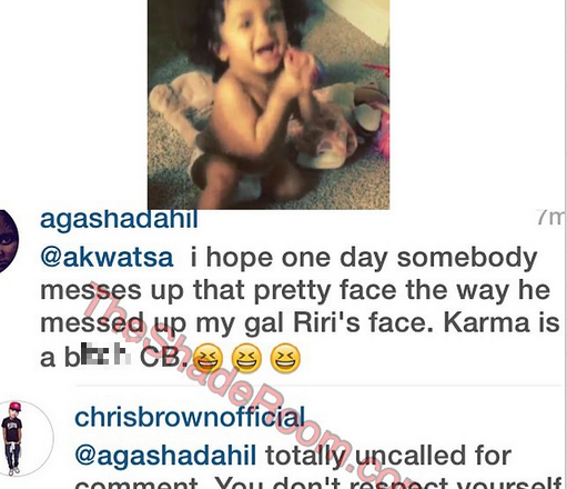 'I Hope One Day Somebody Messes Up That Pretty Face' Rihanna fan to Chris Brown Daughter