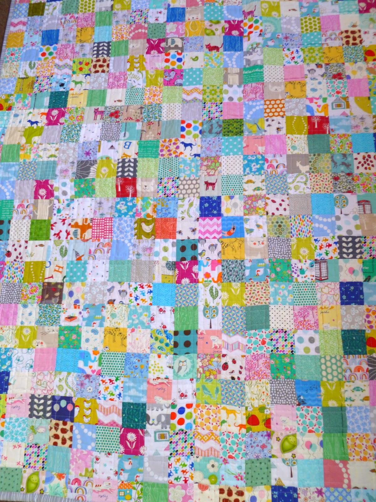 Stitch and Pieces: Crazy squares patchwork quilt: A finished quilt : patchwork quilt squares - Adamdwight.com