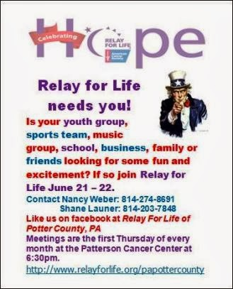 6-21/22 Relay For Life Needs You
