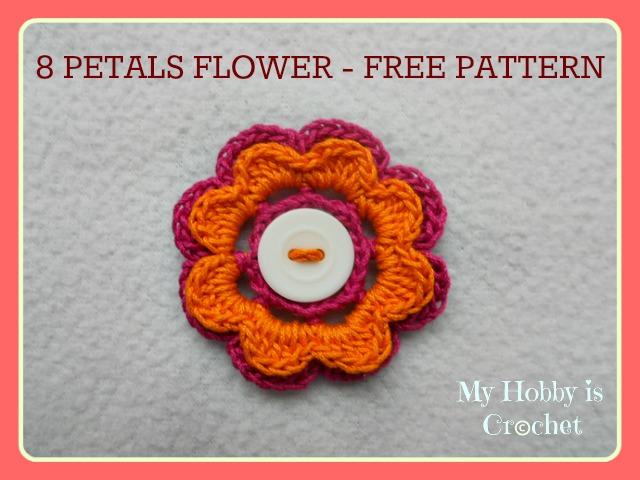 Layer Flower Crochet Flower 2 Layers