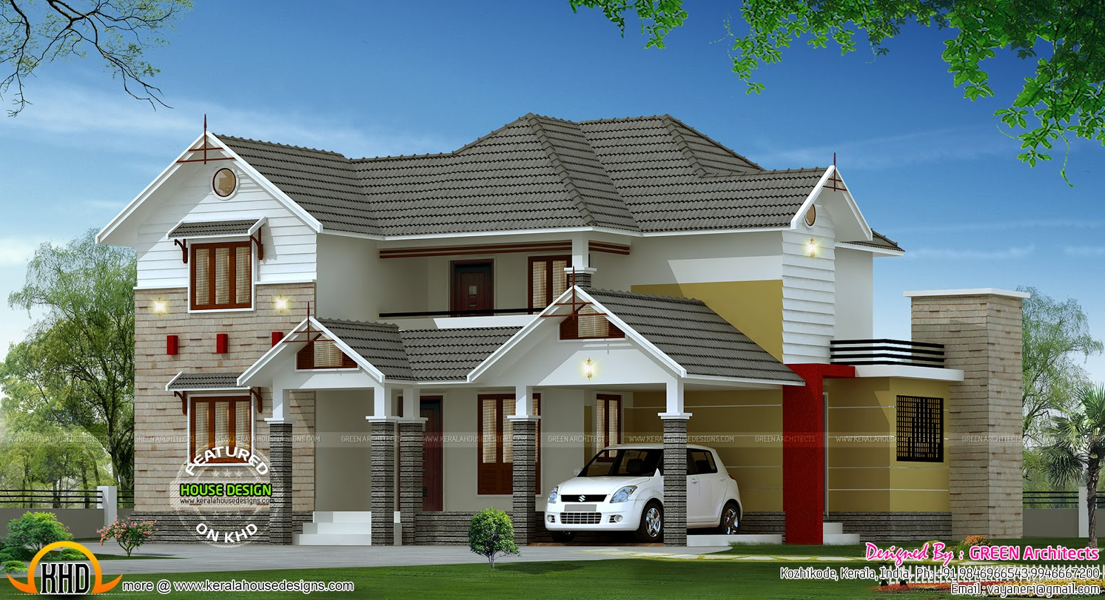 2200 Square Feet 4 Bedroom Home Kerala Home Design And