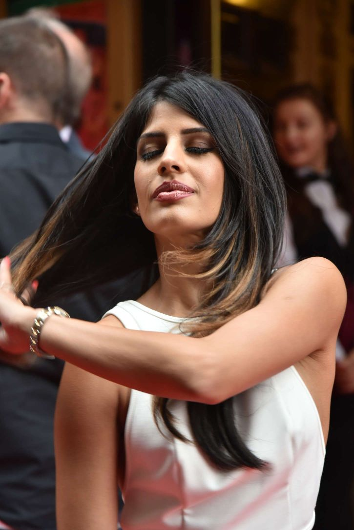 English Television Personality Jasmin Walia Looks Gorgeous at Bend It Like Beckham Press Night