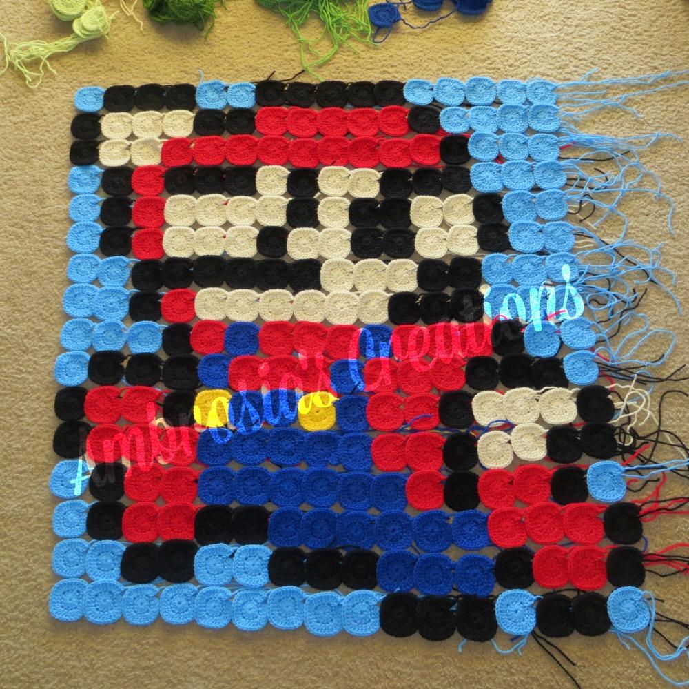 Ambrosia\'s Creations: Mario Themed Crochet Pixel Blanket - Part 2