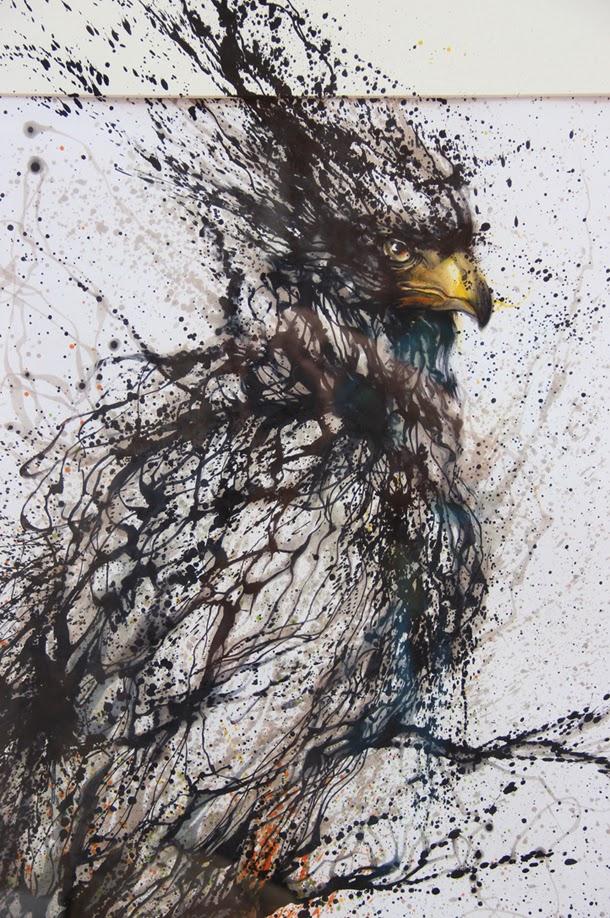 03-Bird-2-Hua-Tunan-huatunan-Melting-&-Running-Ink-Drawings-www-designstack-co