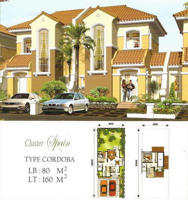 rumah lantai 2 minimalis rumah type 80/160