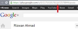 google+ profile ID