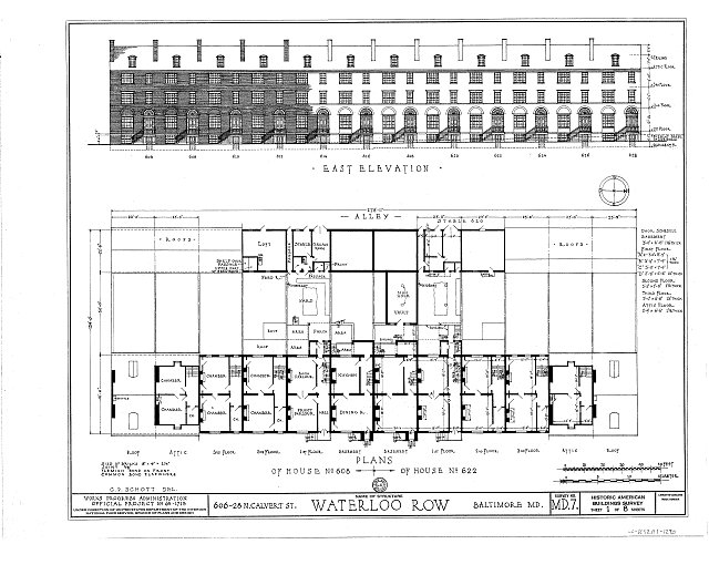 Baltimore row home floor plans for Row home floor plan