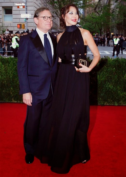 Michael Ovitz and Tamara Mellon at 2014 MET Gala