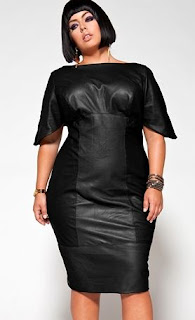 vestido de couro Monif Clarke