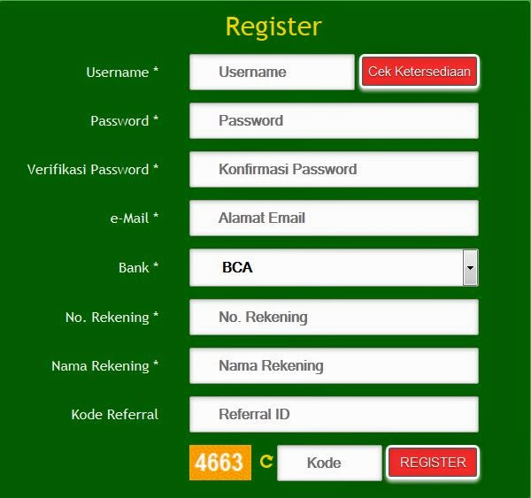PokerBuaya.com Registrasi