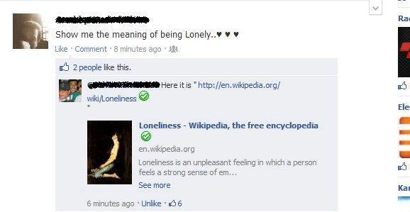 show me the meaning of being lonely meaning