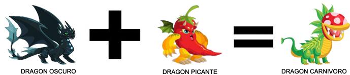 como sacar al dragon carnivoro en dragon city combinacion 2