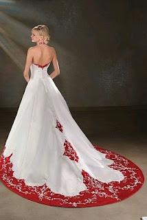 Vestidos de Novia Blanco y Rojo, parte 5