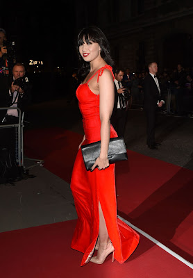 Daisy Lowe vibrant in scarlet Jessica-Rabbit-inspired gown at GQ Men of the Year Awards 2015