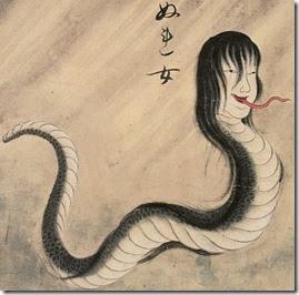 Mujeres serpiente en Japón