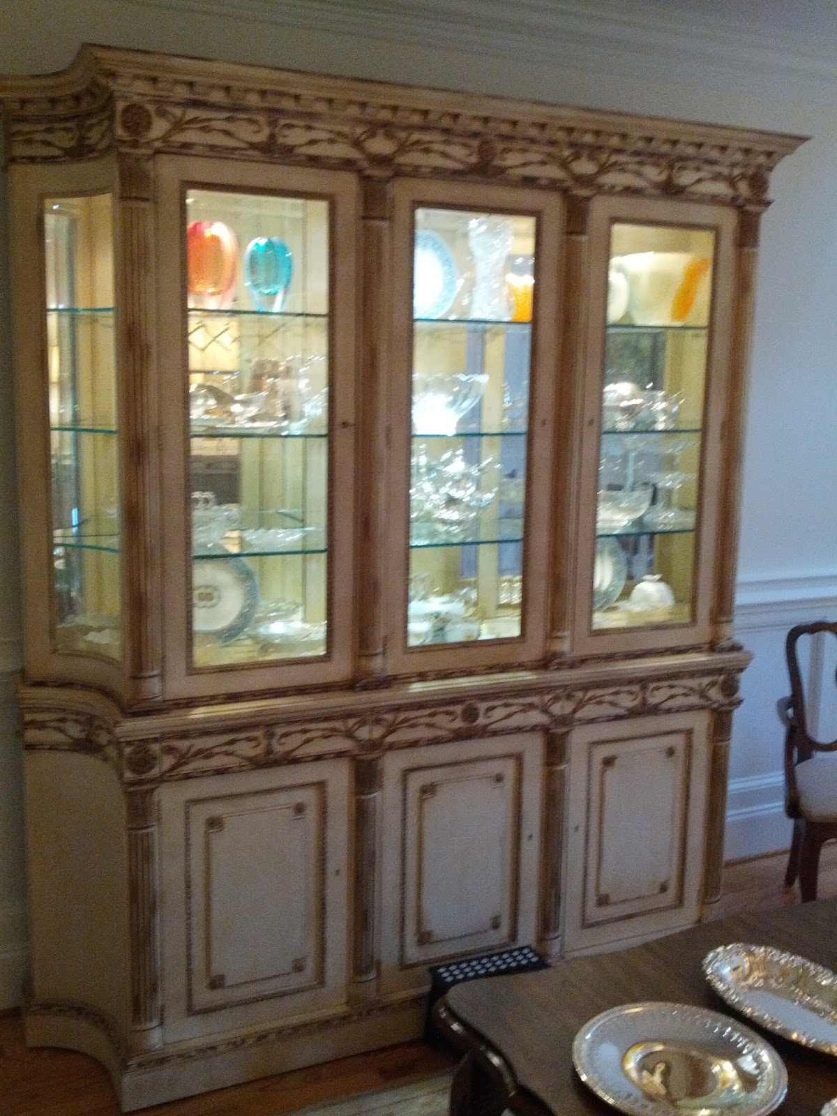 Mark sunderland on design how to decorate a china cabinet How to decorate top of cabinets