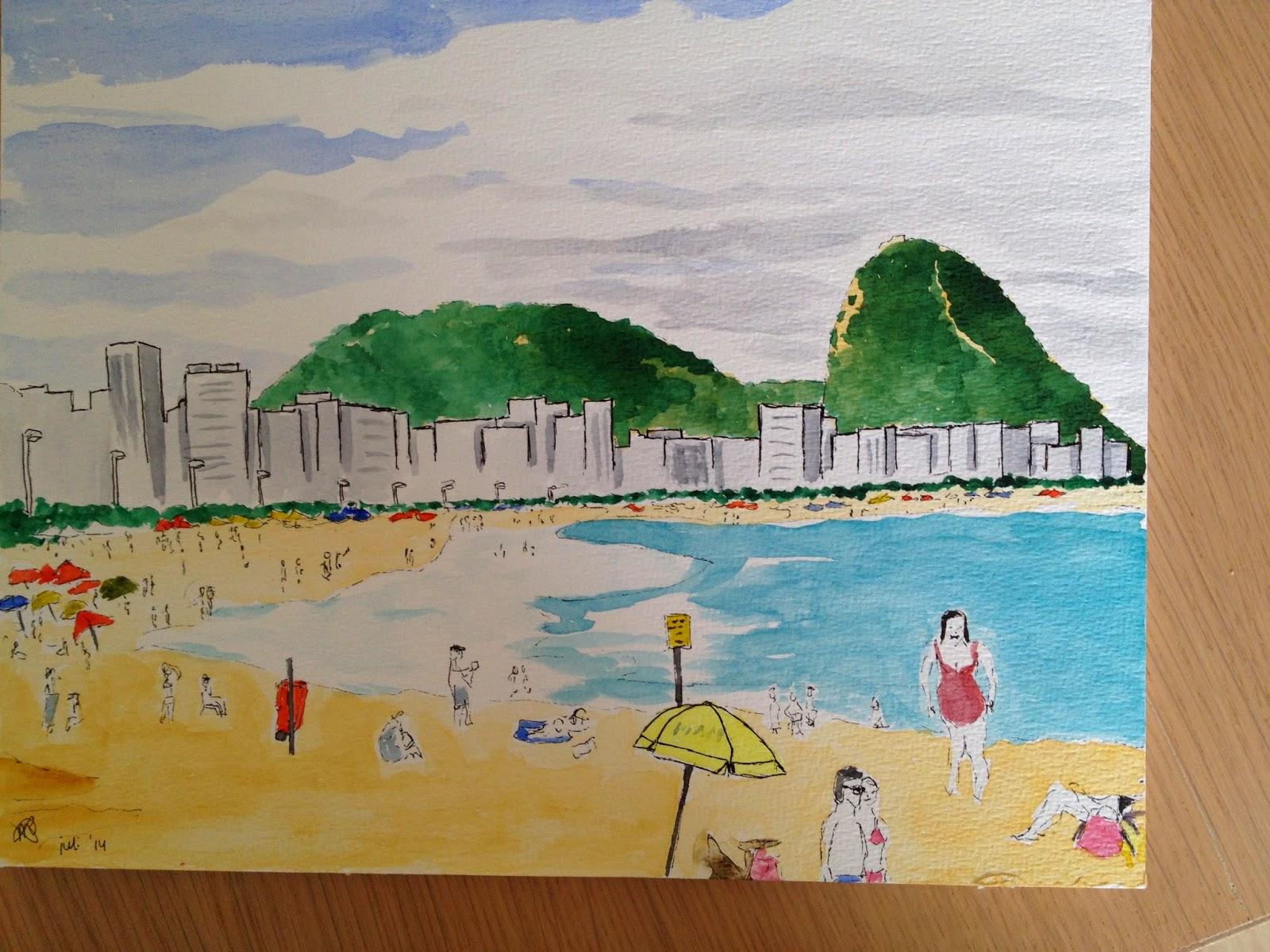 tekening van de copacabana