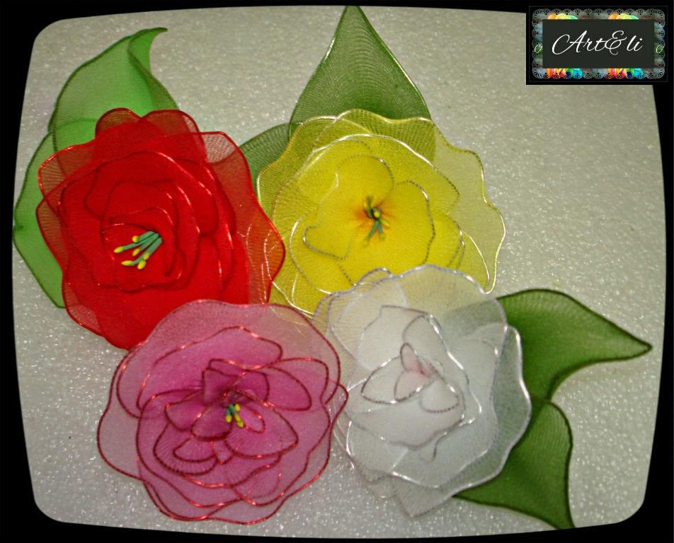 Rosas de Meia de Seda