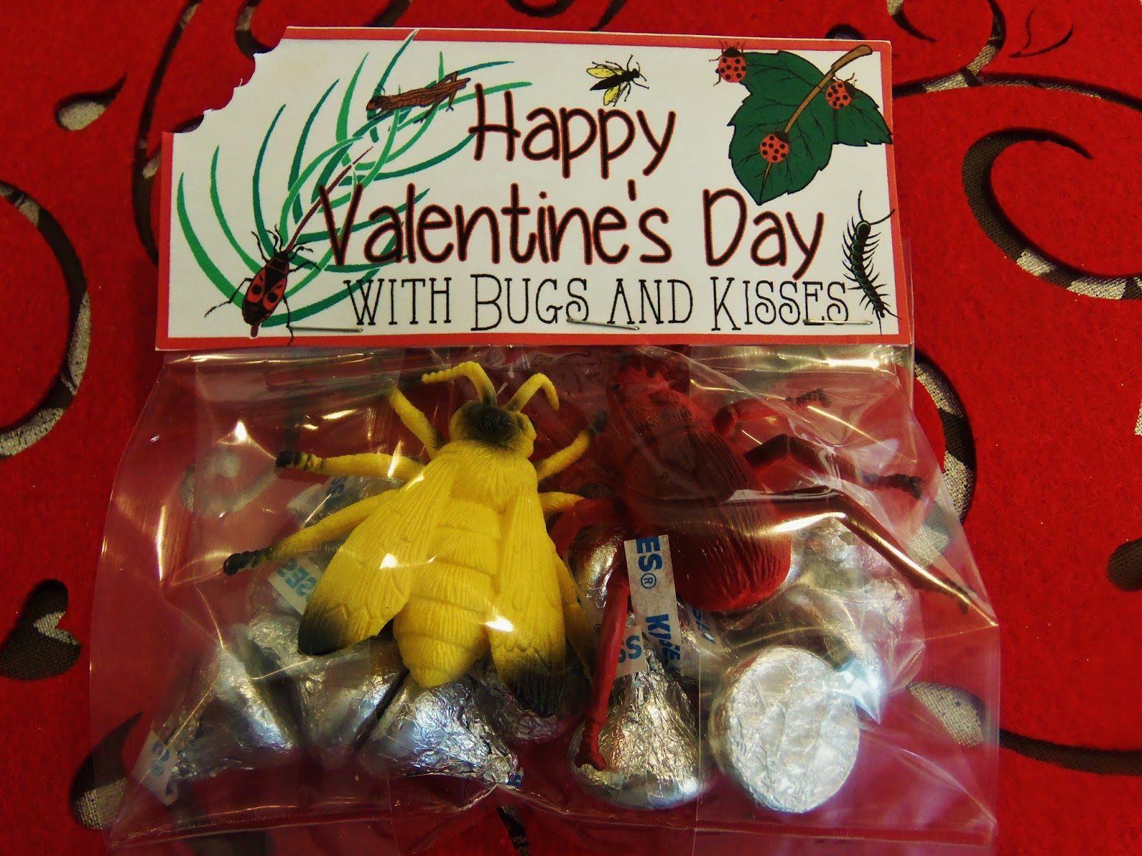 It's just an image of Eloquent Bugs and Kisses Free Printable