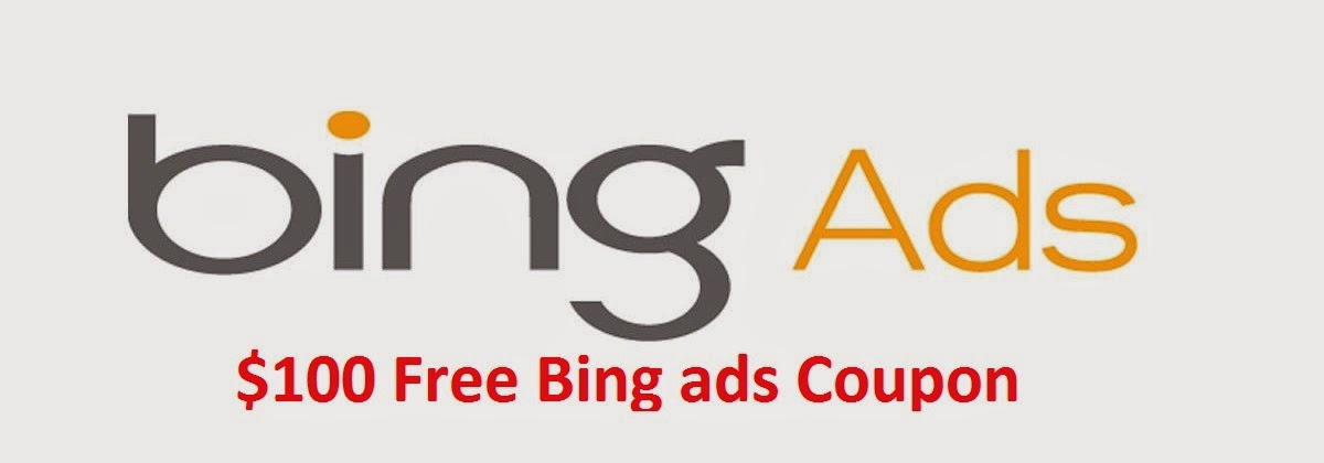 Get Free Coupon Codes of Bing Ads Worth $100
