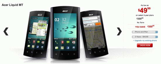 Acer Liquid mt Smartphone images