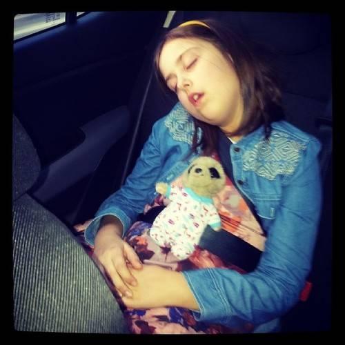 Silent Sunday: Fast Asleep In The Car