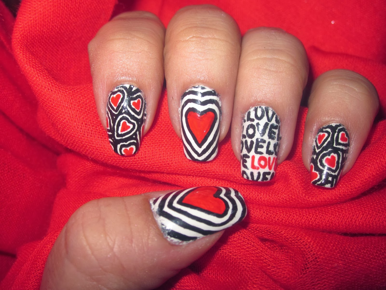 One Hundred Styles: Love Nail Art Designs