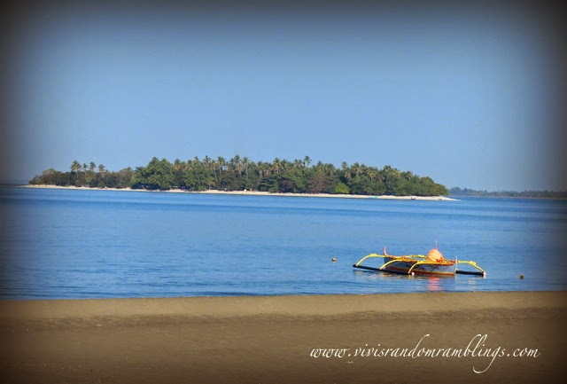 Potipot Island from the mainland shore of Uacon, Candelaria Zambales