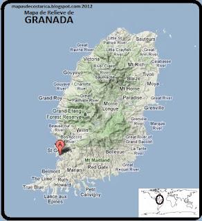 Mapa de Relieve de GRANADA