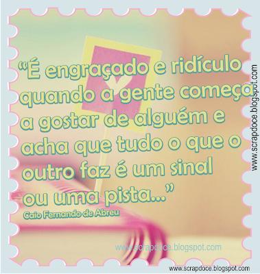 Foto Mensagem sobre Amor com frase de Caio Fernando de Abreu para compartilhar no Faceobook