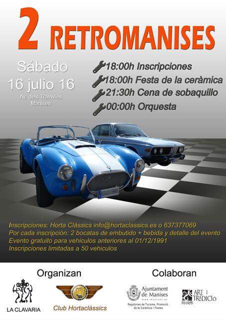 16.07.16 RETROMANISES 2, EXPO DE COCHES ANTIGUOS