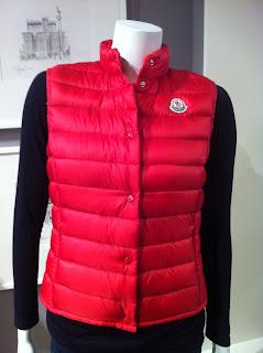 Moncler Red Lightweight Vest