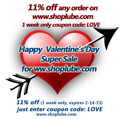 Valentine's Day Sale from Shoplube.com