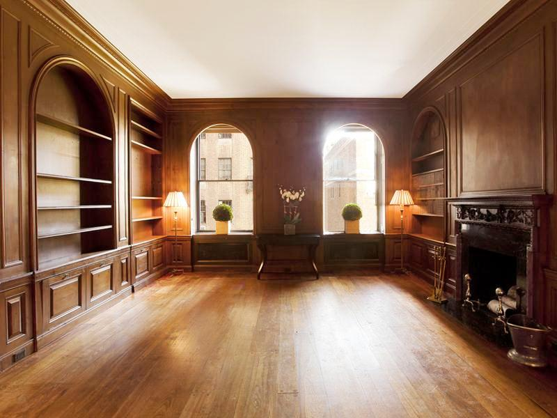 windows and fireplace in a multi million dollar NYC listing. (above