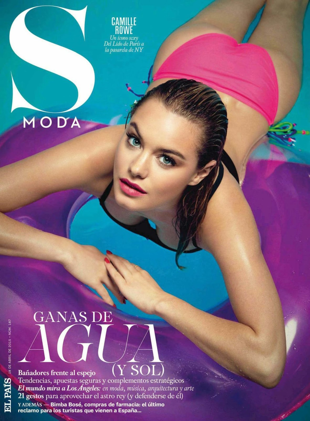 Fashion Model @ Camille Rowe - S Moda Spain, April 2015