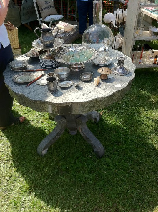 Here Is One Of Barryu0027s Zinc Covered Tables U2014  Gorgeous!