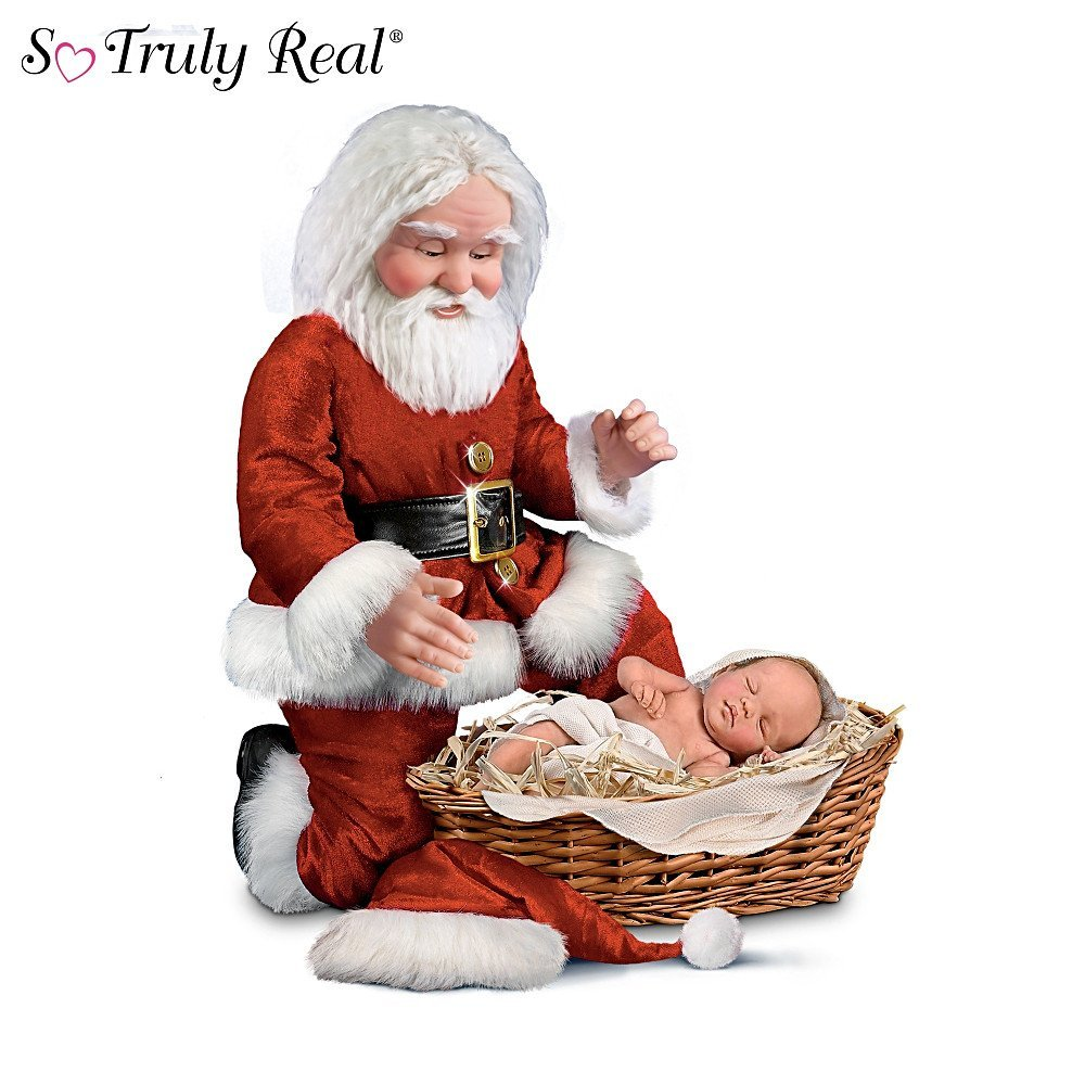 Cheryl Hill The Wonder Of Christmas Santa And Baby Jesus Doll Set, Image
