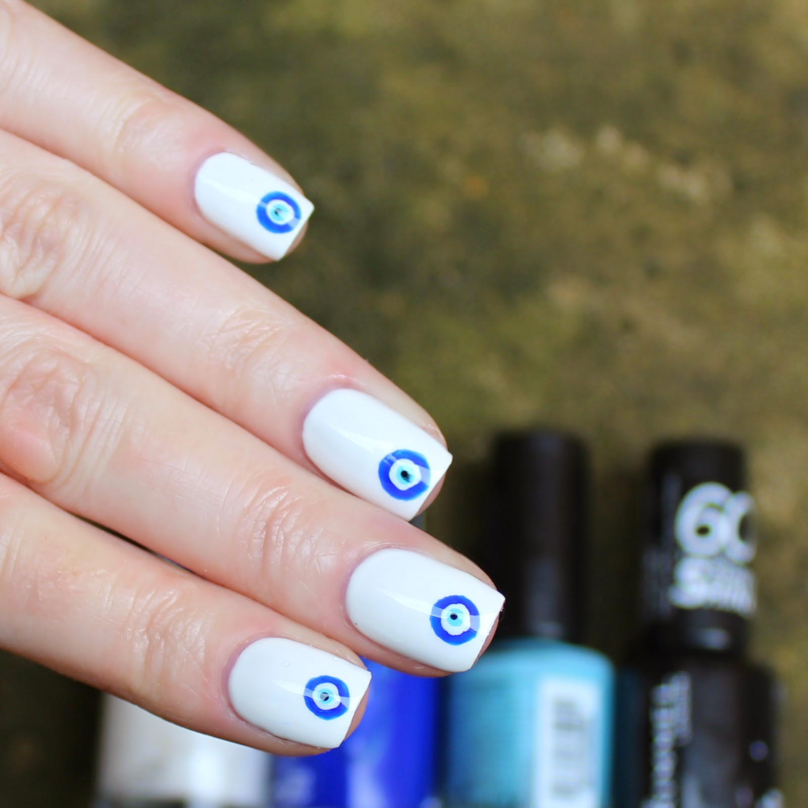 Dahlia Nails: Easy Evil Eye
