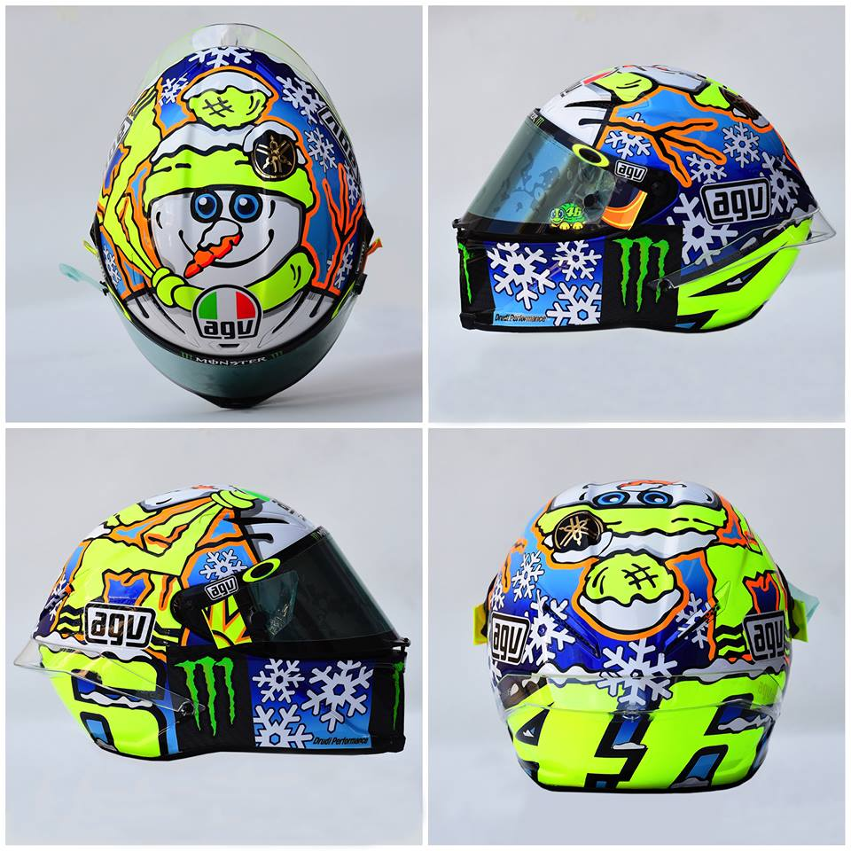 champion helmets agv corsa winter test 2016 valentino. Black Bedroom Furniture Sets. Home Design Ideas