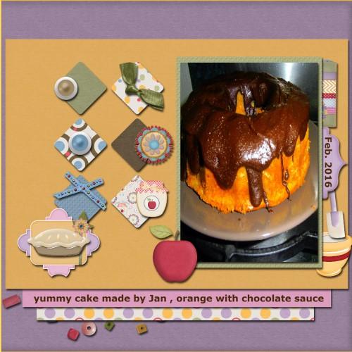 March 2016 - Orange - choco cake
